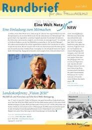 Rundbrief Juni 2011 - Eine Welt Netz NRW