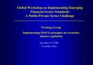 Implementing IOSCO Principles for Securities Market ... - World Bank