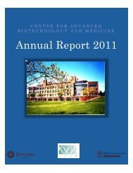 Annual Report 2011 - Center for Advanced Biotechnology and ...