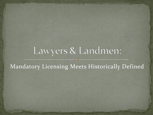 Lawyers & Landmen: - PLANO