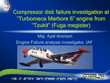 Compressor failure in Marbore Engine