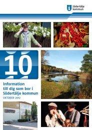Informationsbladet oktober 2012 - Södertälje kommun