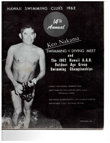 1962 Keo Nakama Invitational - Hawaii Swimming