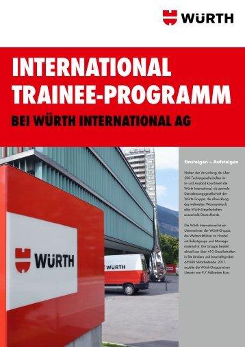 InternatIonal traInee-Programm - Würth International AG