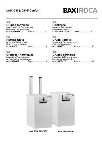 LAIA GTI & GTI-F Confort Heating Units Heizkessel Gruppi ... - Baxi