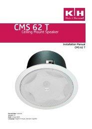 CMS 62 T - Installed Sound