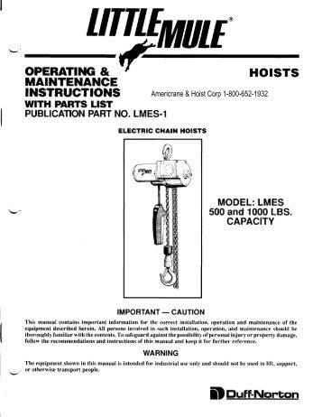 Coffing Hoist Wiring Diagram Wirdig readingratnet