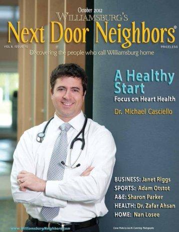 October - Williamsburg , VA Magazine , Next Door Neighbors
