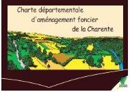 Les études d'aménagement foncier - Charente