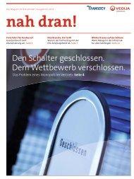 nah dran! - Ausgabe 1/2011 - Veolia Verkehr