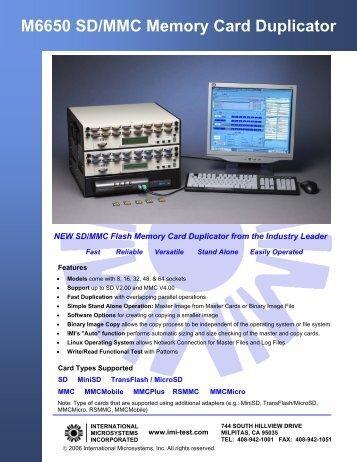 M6650 SD/MMC Memory Card Duplicator - Trace Digital