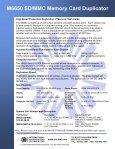 M6650 SD/MMC Memory Card Duplicator - Trace Digital - Page 2