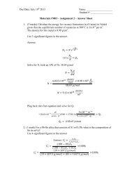 Materials 1M03 Assignment 2 Summer 2013 Answer ... - Course Notes