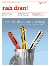 nah dran! - Ausgabe 1/2010 - Veolia Verkehr