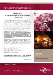 Masterclass Brandveiligheid in de bouw 2011