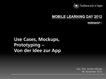 Präsentationsfolien - Forschungsgruppe Mobile Learning