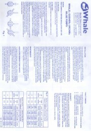 Whale Urchin Thru-Deck Bilge Pump Instruction Sheet - Safety Marine