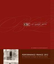 Performance france 2012 - CM-CIC Asset Management