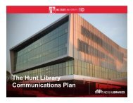 Hunt Library Communications Plan