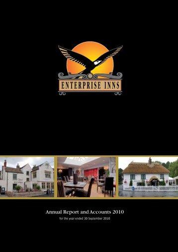 Enterprise Inns plc Ann ual Report and Accounts 2010 Annual ...