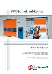 Prinzipzeichnung PVC-Schnelllauf-Rolltor - B+N TorTechnik