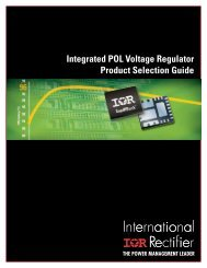 Integrated POL Voltage Regulator Product Selection Guide