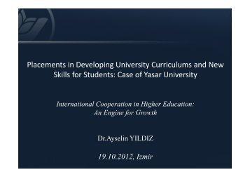6-Dr. Ayselin YILDIZ, Placements in Developing University ...