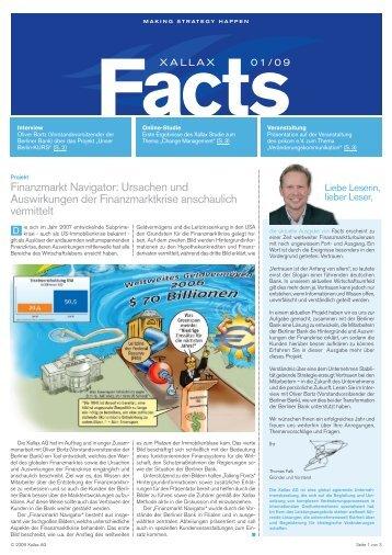 Finanzmarkt Navigator: Ursachen und Auswirkungen der - Xallax AG