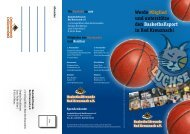 Werde Mitglied und unterstütze den Basketballsport in Bad Kreuznach!
