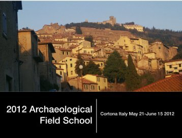 Field School Booklet - History and Classics, Department of ...