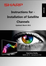Instructions for - Installation of Satellite Channels