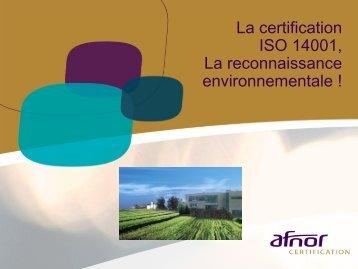 La certification ISO 14001 - AFNOR Certification