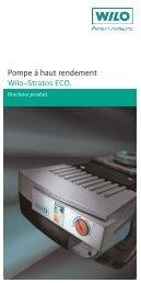 Pompe à haut rendement Wilo-Stratos ECO. - Produits