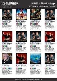 MARCH Film Listings More films at maltingsberwick ... - The Maltings