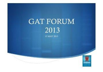 GAT Forum 2013.pptx