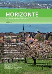 horizonte - Pro Senectute Kanton Zug - bei Pro Senectute Schweiz