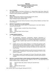 BOE Minutes Open Session Regular Meeting 04/10/2013 1