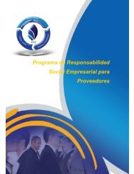 Programa de Responsabilidad Social Empresarial para Proveedores