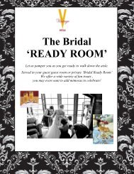 Wedding Package The Bridal Ready Room - Vintage Hotels