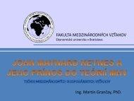 X - Fakulta medzinárodných vzťahov - Ekonomická univerzita v ...