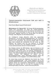 Pressemitteilung vom 01.02.2012 - Karin Evers-Meyer
