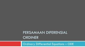 MT Persamaan Diferensial Ordiner (ODE) - istiarto