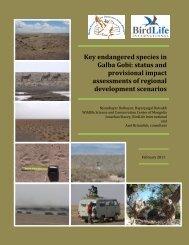 Key endangered species in Galba Gobi - Wildlife Science and ...