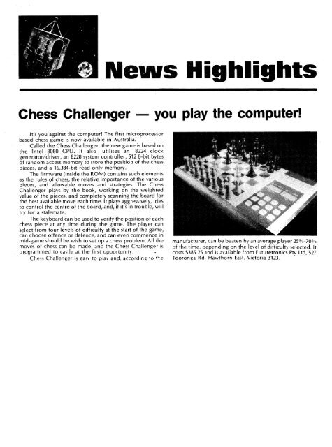 Various Chess Computers