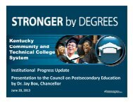 Kentucky Community and Technical College System - Council on ...