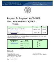 Request for Proposal 08-X-20068 For: Aviation Fuel - NJDEP T-2603