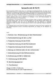 Sensorik mit NI 9219 - Carl-Engler-Schule - Karlsruhe