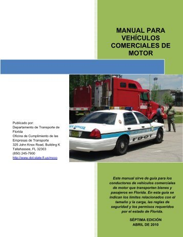 manual para vehículos comerciales de motor - Department of ...