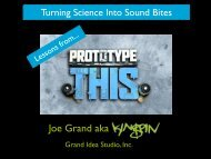 Turning Science into Soundbites: Lessons from - Grand Idea Studio