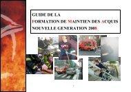 FORMATION DE MAINTIEN DES ACQUIS - SDIS14